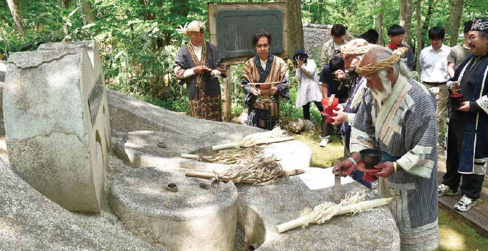 偉大なる祖先を讃える儀式の写真