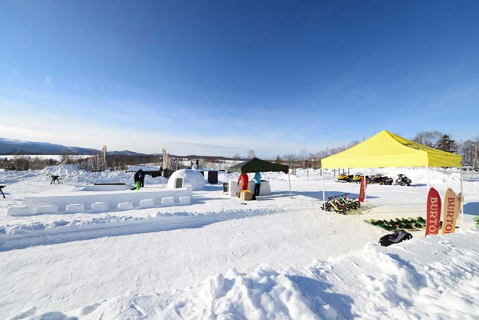 大雪森のガーデン 冬のアクティビティの写真