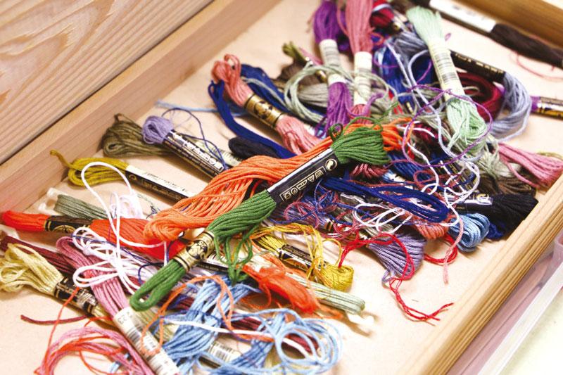 刺繍糸の写真